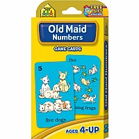 Old Maid Numbers Game Cards