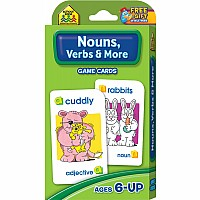 1st to 3rd Grade - Nouns and Verbs Grammar Flash Cards