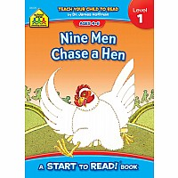 Nine Men Chase a Hen - A Level 1 Start to Read! Book