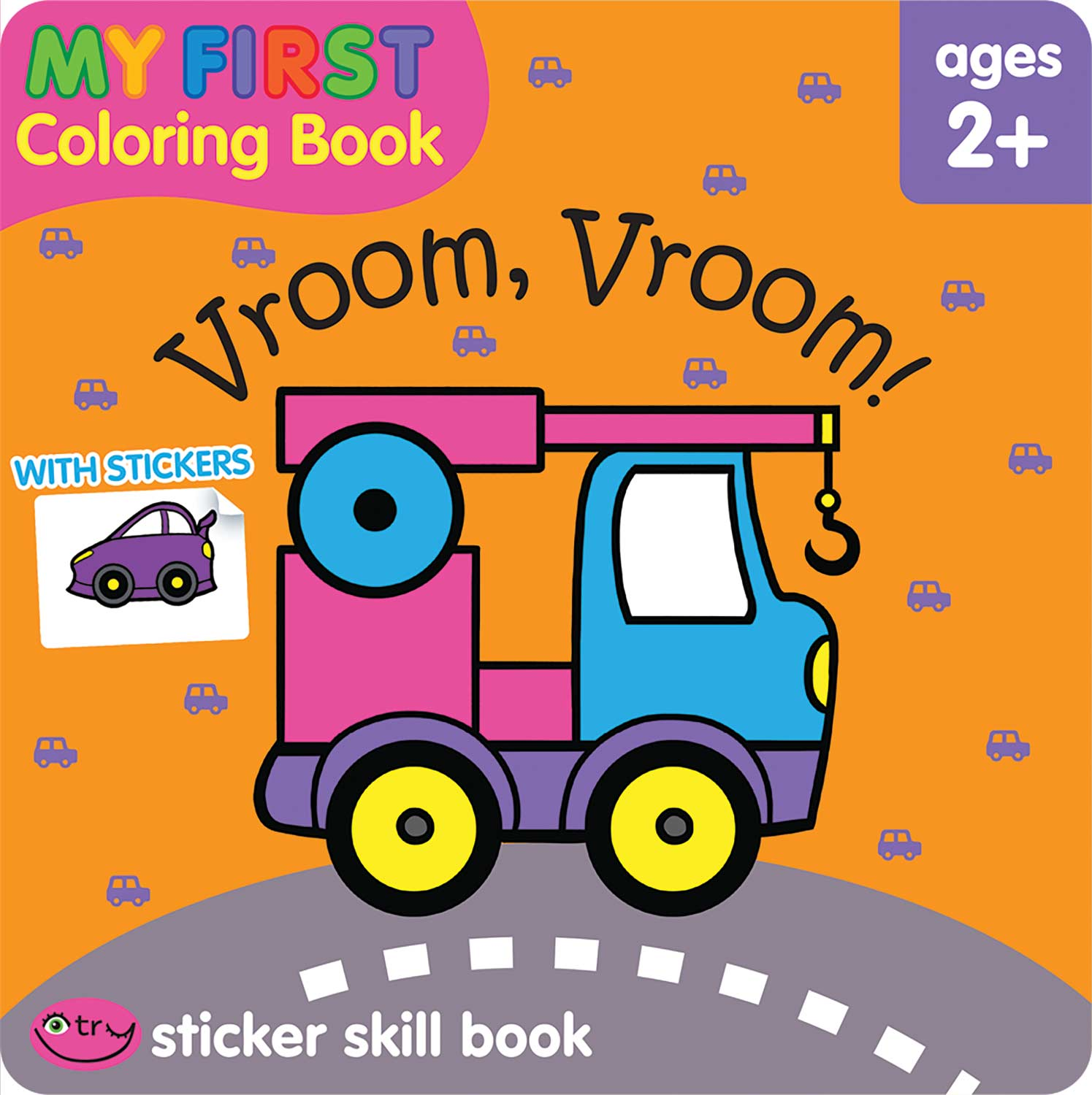 My First Coloring Book Sticker Skill Book - Vroom, Vroom! - Kool & Child