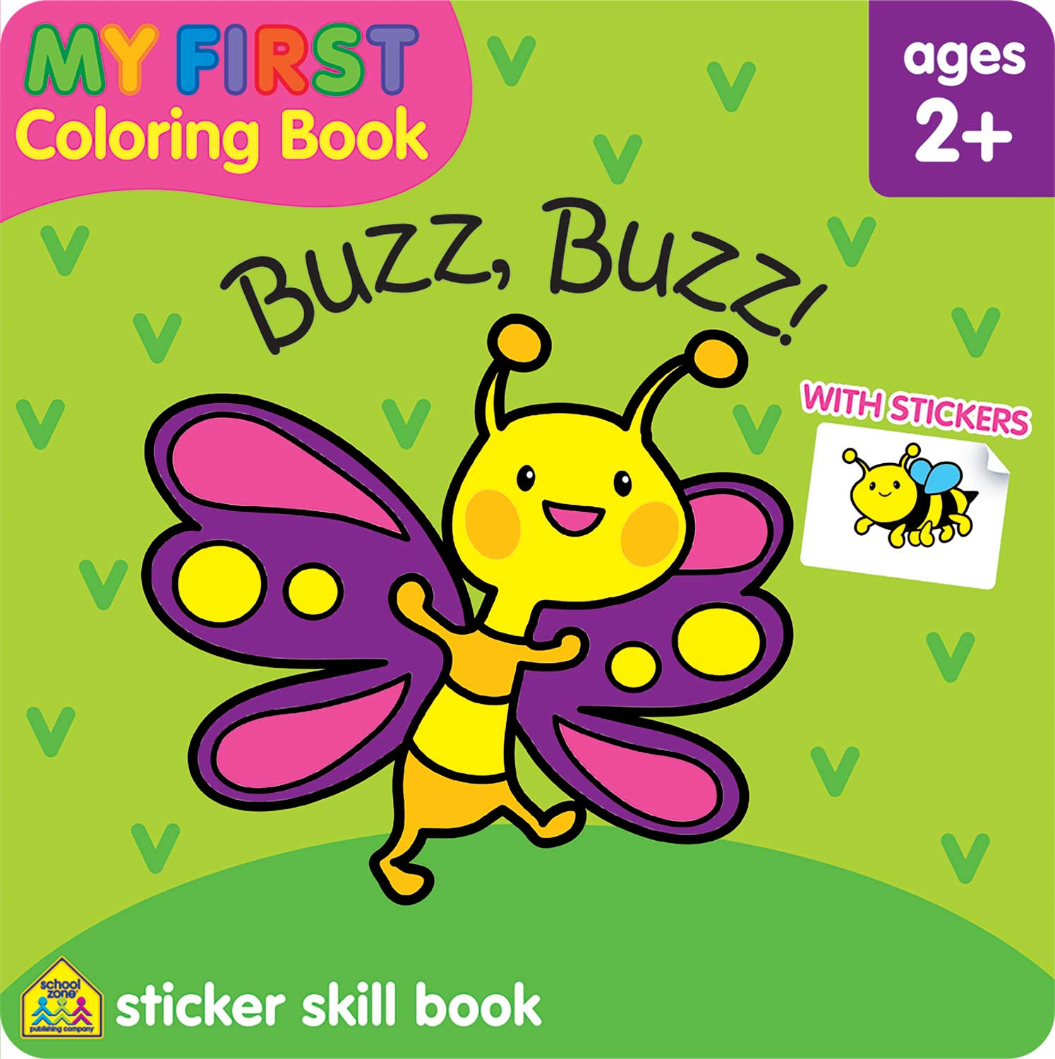 My First Coloring Book Sticker Skill Book - Buzz, Buzz! - Kool & Child