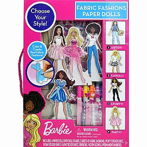 Barbie Fabric Fashion Paper Dolls
