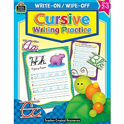 Write-On/Wipe-Off Workbook: Cursive Writing Practice (Gr. 2-3)