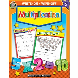Write-On/Wipe-Off Workbook: Multiplication (Gr. 3)