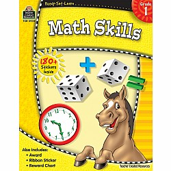 Ready Set Learn Workbook: Math Skills (Gr. 1)