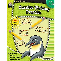 Ready Set Learn Workbook: Cursive Writing Practice (Gr. 2 - 3)