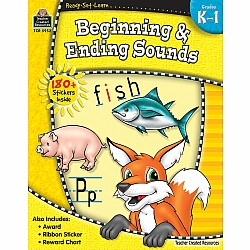 Ready Set Learn Workbook: Beginning & Ending Sounds (Gr. K - 1)