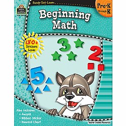 Ready Set Learn Workbook: Beginning Math (PreK - K)