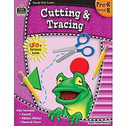 Ready Set Learn Workbook: Cutting & Tracing (PreK - K)