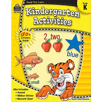 Ready Set Learn Workbook: Kindergarten Activities (Gr. K)