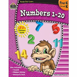 Ready Set Learn Workbook: Numbers 1 - 20 (PreK - K)
