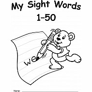 My Own Books: Sight Words 1 - 50
