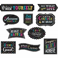 Clingy Thingies: Chalkboard Brights Positive Sayings Accents
