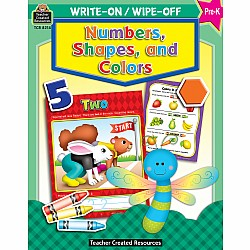 Write-On/Wipe-Off Workbook: Numbers, Shapes, And Colors (PreK)