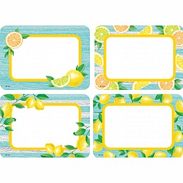 Lemon Zest Name Tags/Labels - Multi-Pack