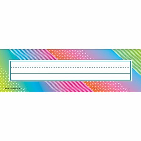 Colorful Vibes Flat Name Plates