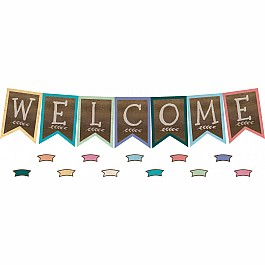 Home Sweet Classroom Pennants Welcome Bulletin Board