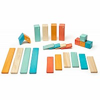 24-Piece Tegu Set in Sunset Colors