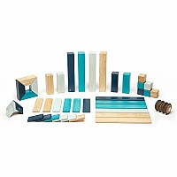 42-Piece Tegu Block Set in Blues