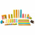 42pc Magnetic Wood Building Set - Tints