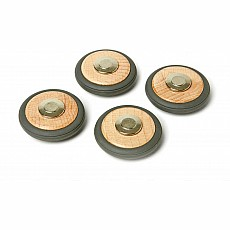 Tegu Magnetic Wooden Wheels - Pack of 4