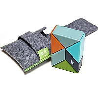 Pocket Pouch Prism Magnetic Wooden Blocks - Nelson