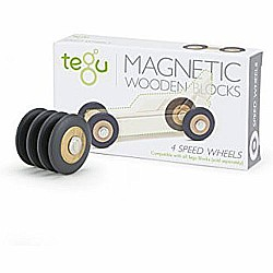 Tegu Magnetic Wooden Speed Wheels (4 Pack)
