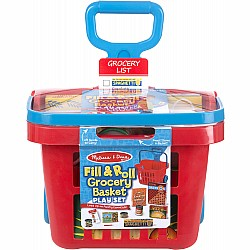 Melissa & Doug Fill & Roll Grocery Basket Play Set