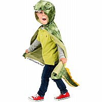 T-Rex Hooded Cape - Green