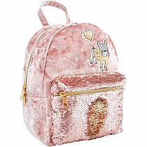 Crushed Velvet Backpack with Magic Sequin Pocket