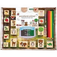 Woodland Animals Stamp & Sticker Set