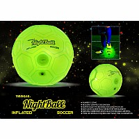 NightBall Green Inflatable Soccer Ball