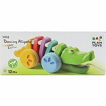 Plan Toys Dancing Rainbow Alligator Pull Toy
