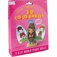 3D Colorable World Peace Dolls