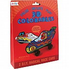3D Colorable Radical Race Cars