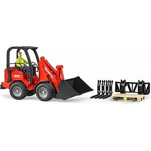 Bruder Schaeffer Compact Loader w Accessories