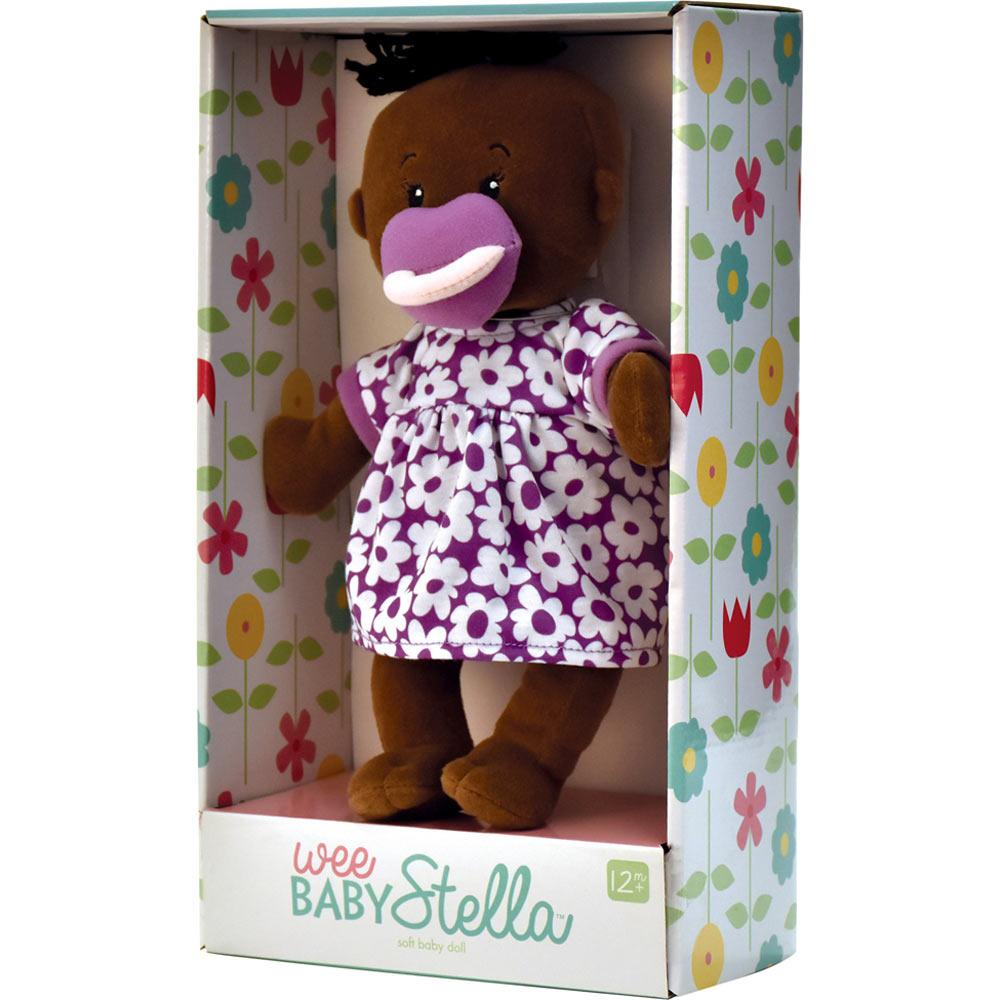Wee Baby Stella Doll In Purple Dress Manhattan Toy Co
