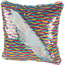 Magic Sequin Rainbow Pillow
