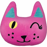 Winking Cat Pillow