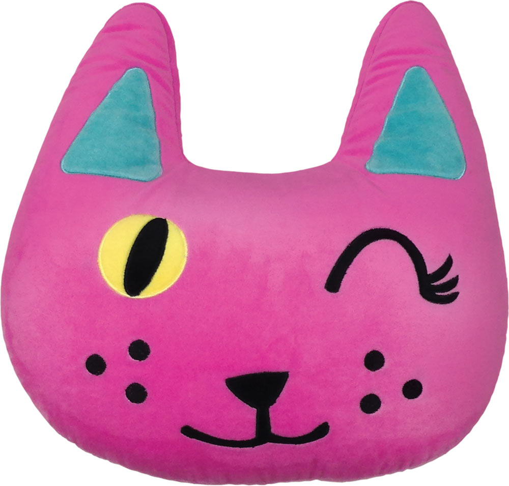 iScream Winking Cat Pillow