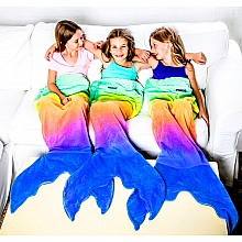 Rainbow Mermaid Blankie Tail