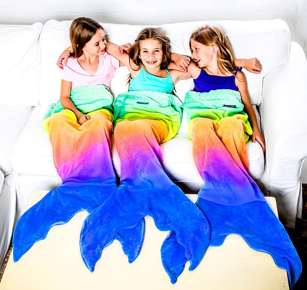 Rainbow Mermaid Blankie Tail Kid By Blankie Tails On