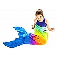 Rainbow Mermaid Blankie Tail - Kid
