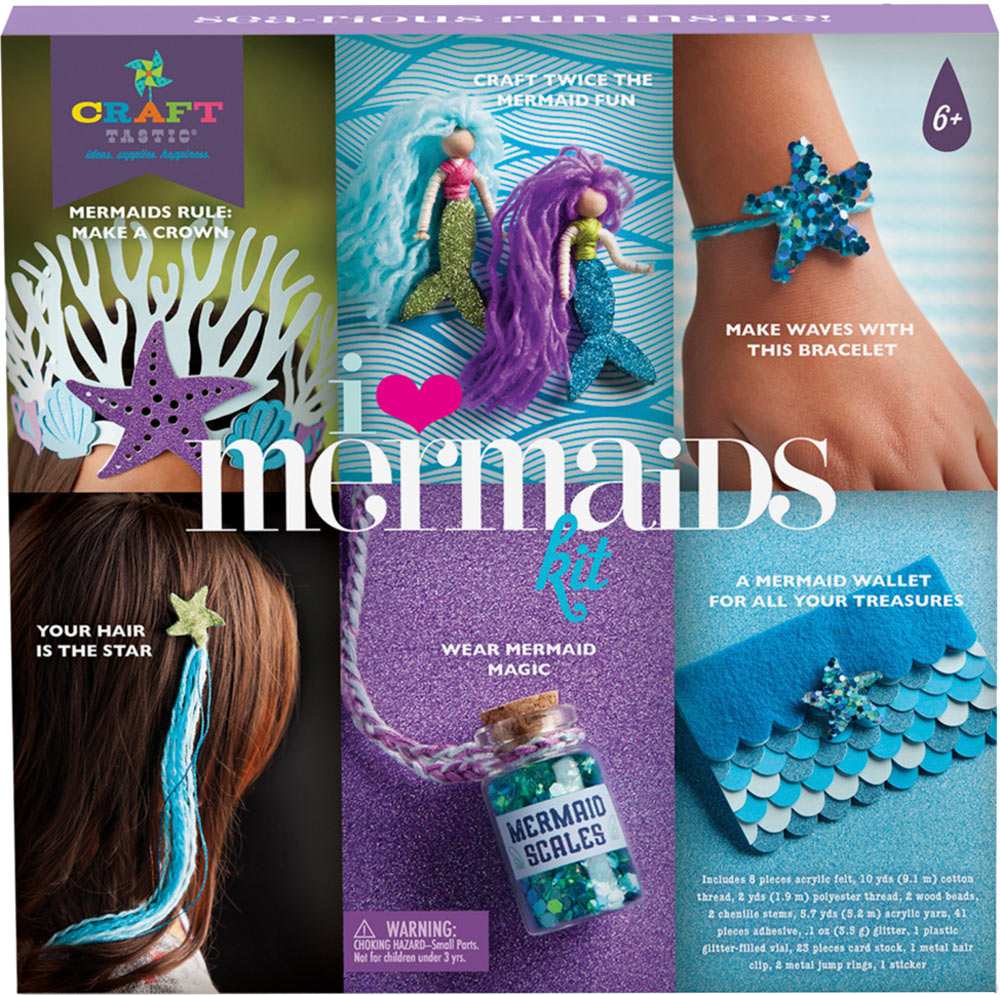 craft tastic i love mermaids kit over the rainbow