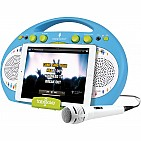 Singing Machine Blue Tabeoke Portable Bluetooth Karaoke System