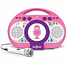Singing Machine Pink Tabeoke Portable Bluetooth Karaoke System