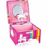 Rainbow Unicorn Jewelry Box - Pink