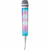 Singing Machine Unidirectional LED Light-Up Wired Microphone