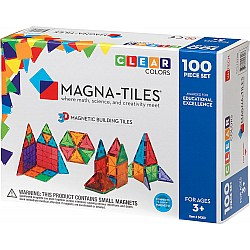 Magna-Tiles™ Clear Colors 100 Piece Set