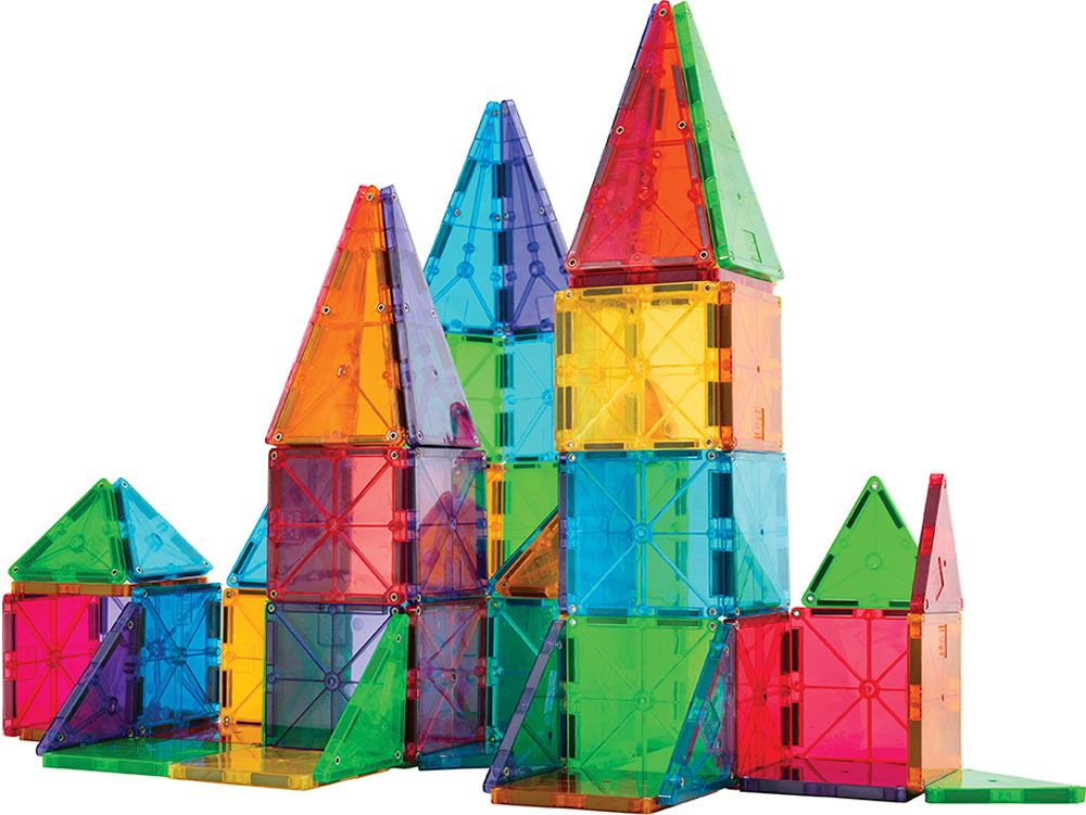Magna Tiles Clear Colors 100 Piece Set The Toy Station